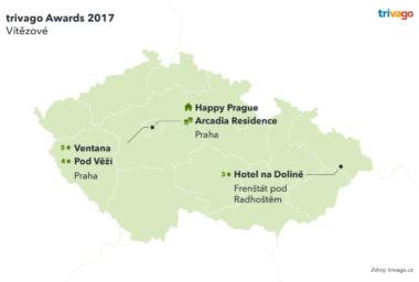 Trivago awards 2017: Známe nejlepší hotely V ČR