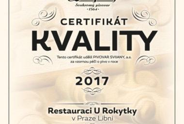 """Nejlepší Svijany letos točí v Praze """"U Rokytky"""""""