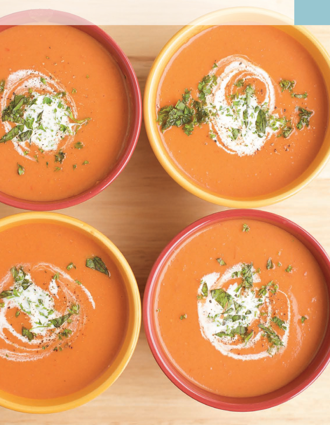 Bezmléčný recept z knihy Vaříme bez mléka – Krémová rajčatová polévka