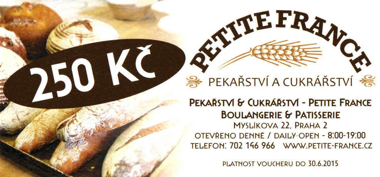 SOUTĚŽ o 3 vouchery Petite France boulangerie & Patisserie