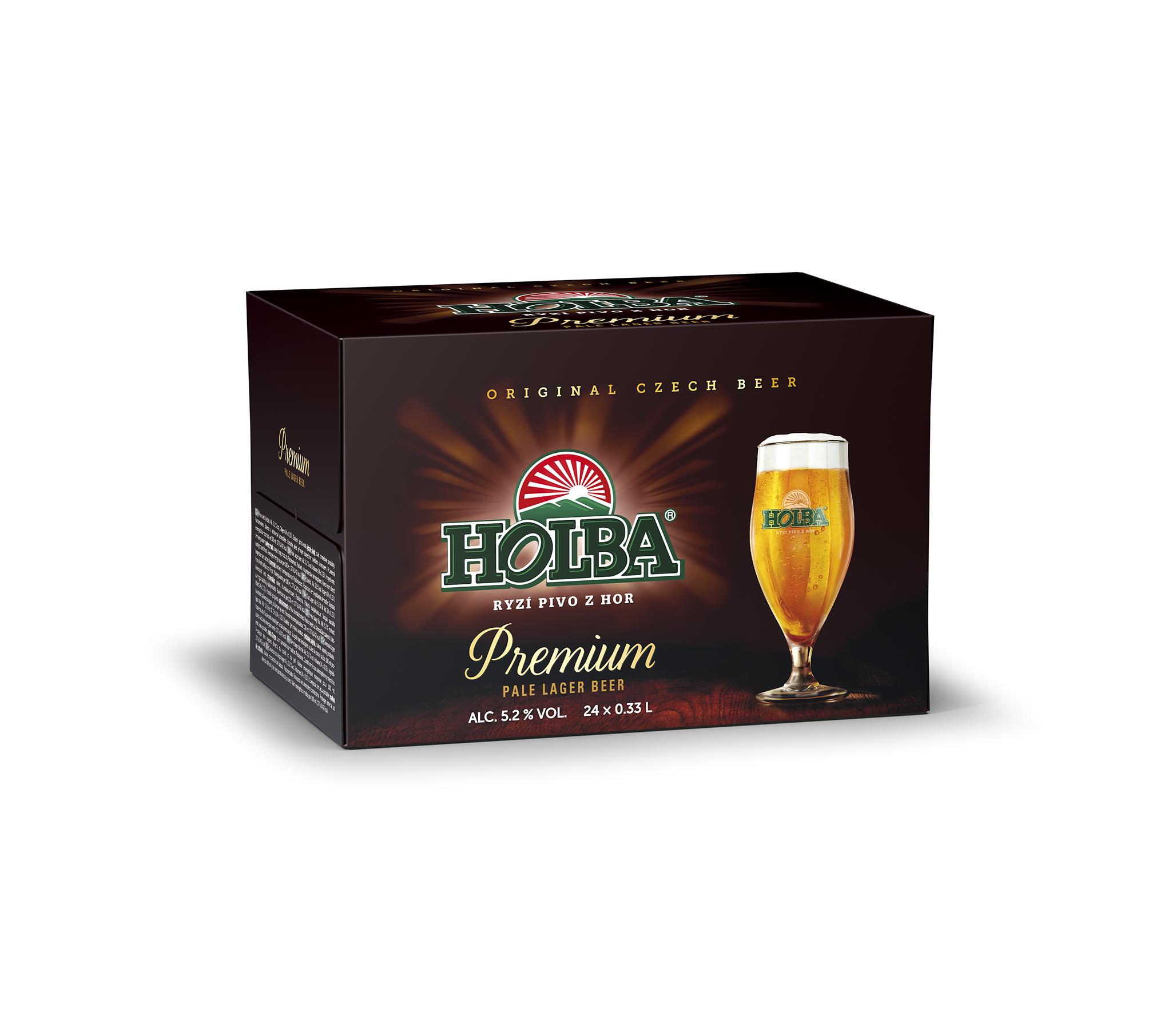 První třetinky Holba ležáku premium v restauracích