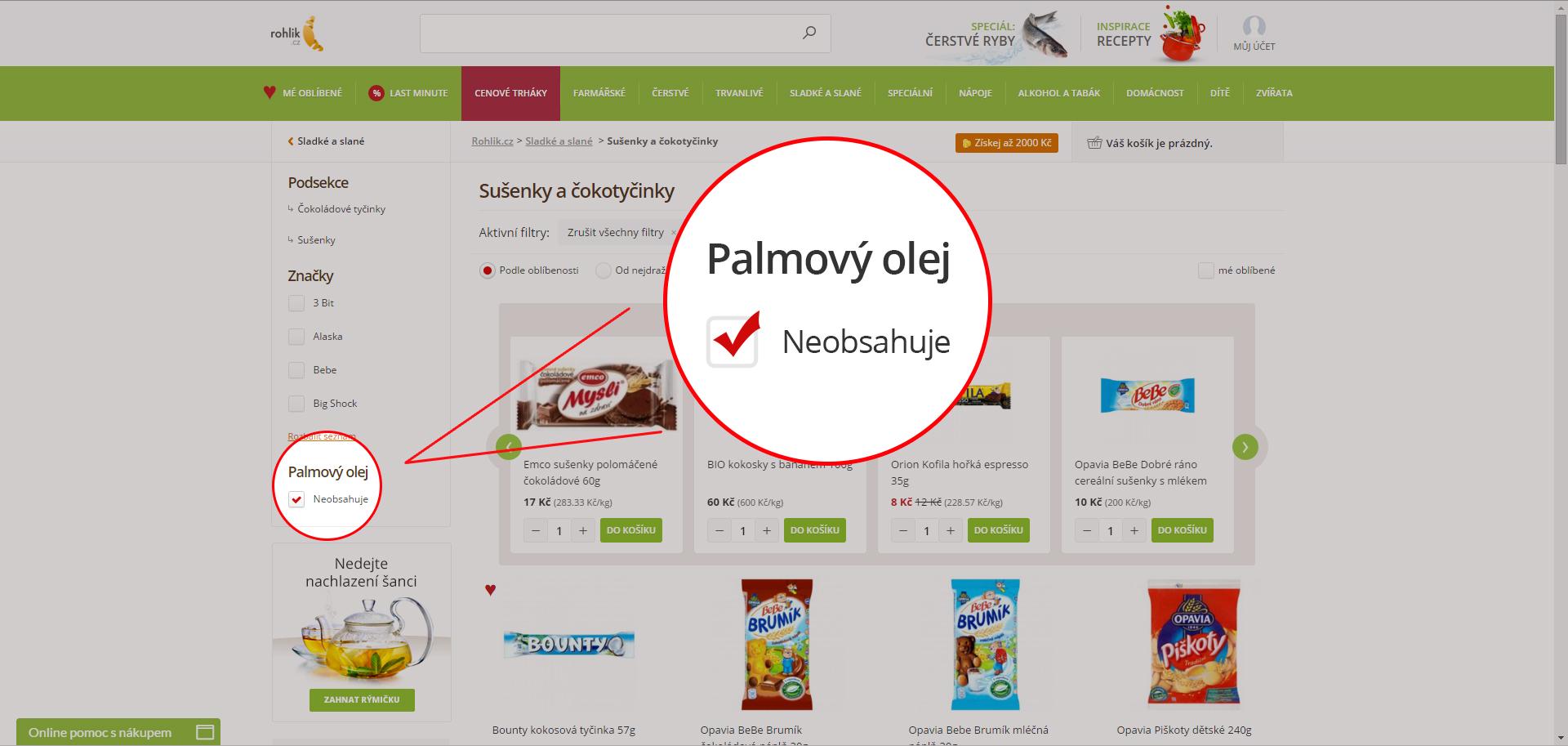 Rohlik.cz: 95 % zákazníků se vyhýbá palmovému oleji