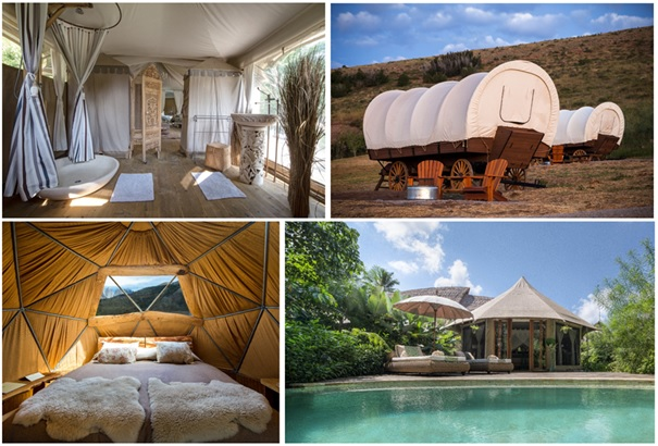 7 glamping hotelů pro luxusní zážitek uprostřed přírody