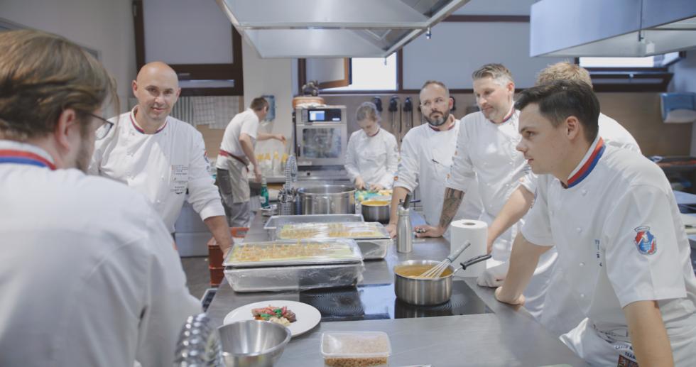 velké kuchařské video