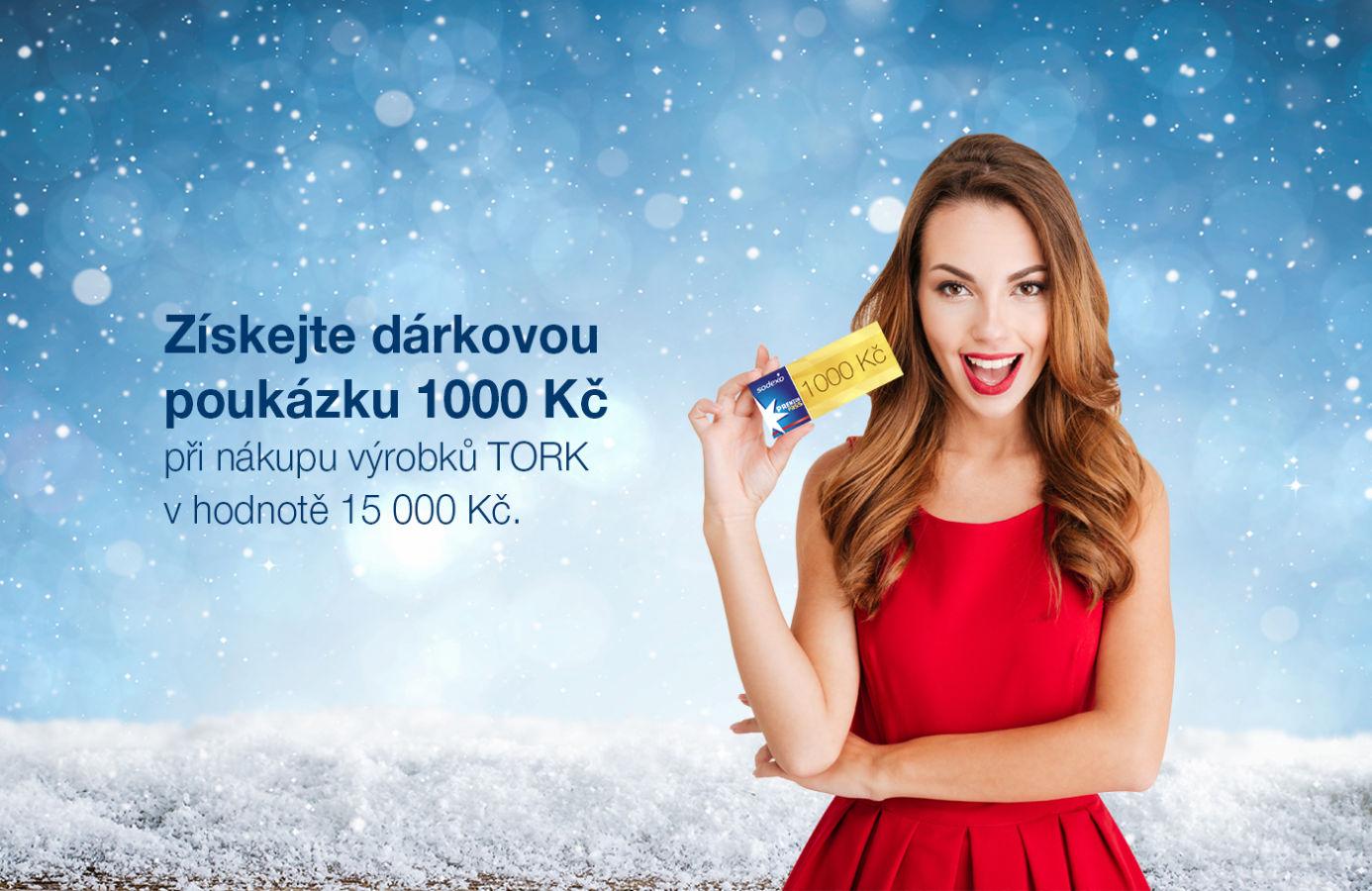 Pořiďte si výrobky TORK a získejte dárek 1000 Kč