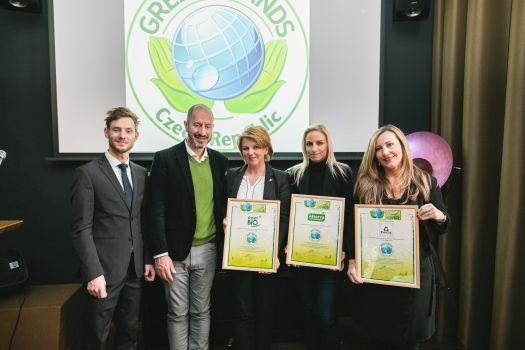 Mezinárodní organizace GREEN BRANDS předala pečetě oceňující udržitelné podnikání