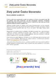 Zlatý pohár Česko Slovenska – Nová unikátní soutěž vín