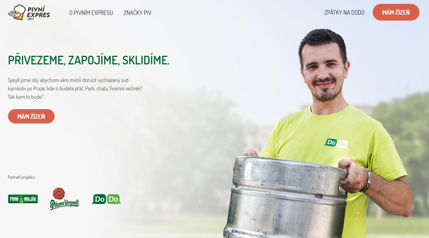 Startup DoDo spouští Pivní expres: Doveze vychlazený sud i s příslušenstvím