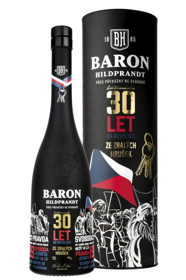 Baron Hildprandt oslavuje svobodu limitovanou edicí své lahve