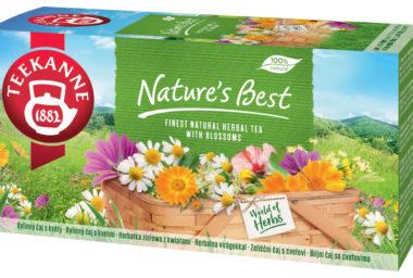 Rozkvetlý čaj TEEKANNE Nature's Best s pestrými květy bylinek