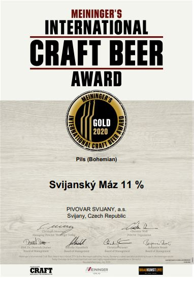 Svijany opět zlaté na International Craft Beer Award