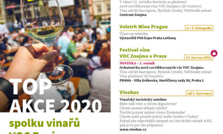 Rok 2020 s VOC Znojmo s novými termíny. Konat se bude i tradiční festival vín